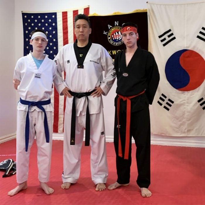 Bong Kang and his sons