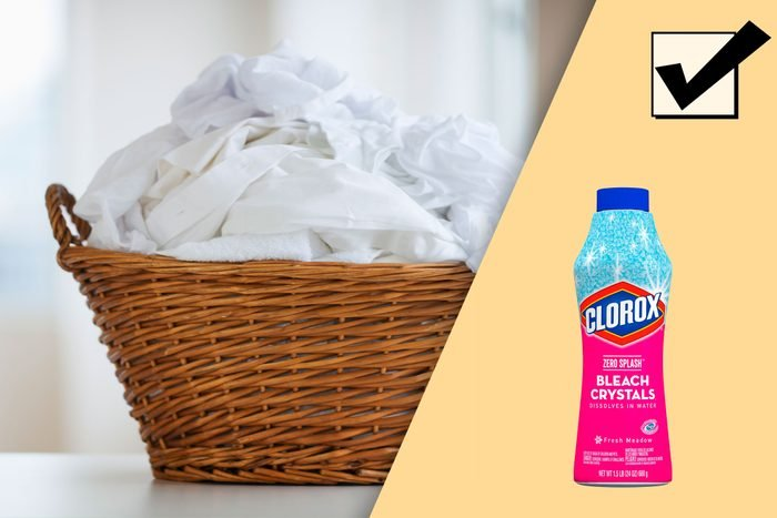 laundry basket of whites, and recommended product