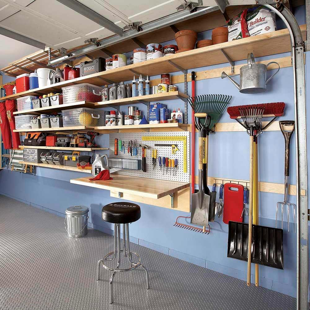 Flexible Garage Storage Wall