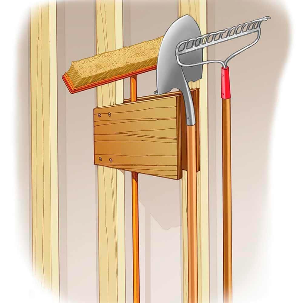Garage-Wall Tool Holder