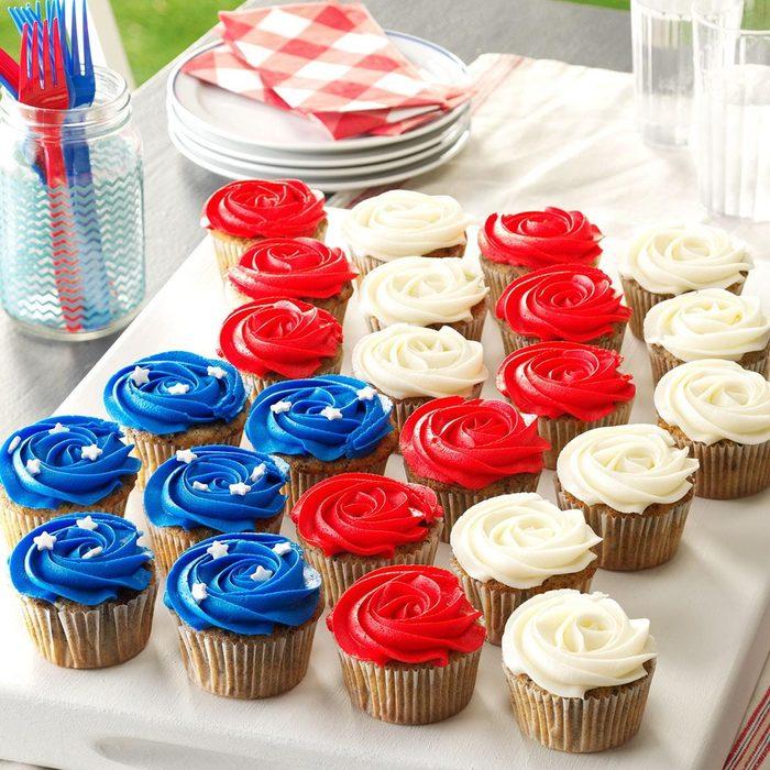 Patriotic Cookie And Cream Cupcakes