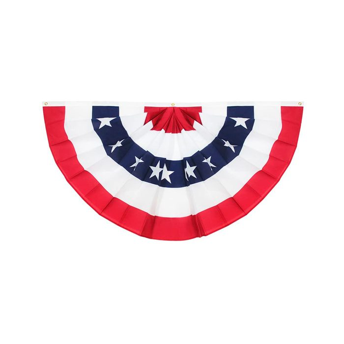 Pleated American Flag Bunting