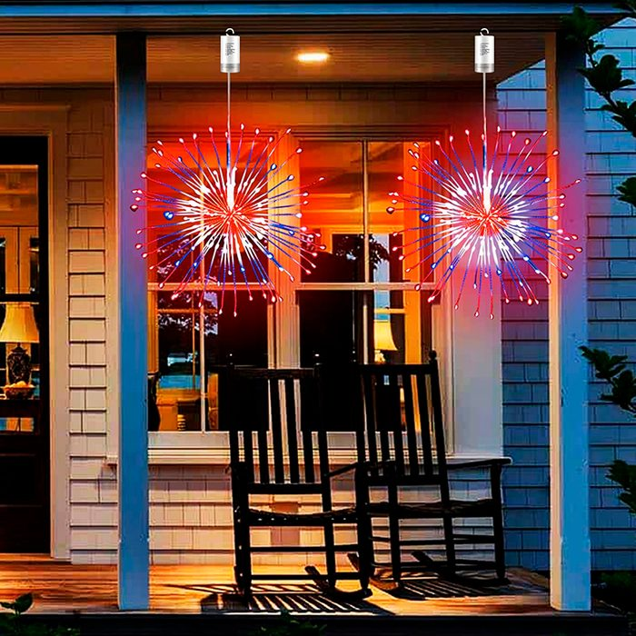 Red, White, And Blue Firework Lights