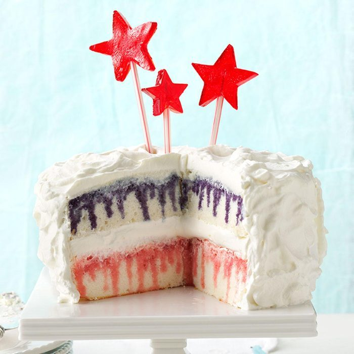 Red White And Blueberry Poke Cake
