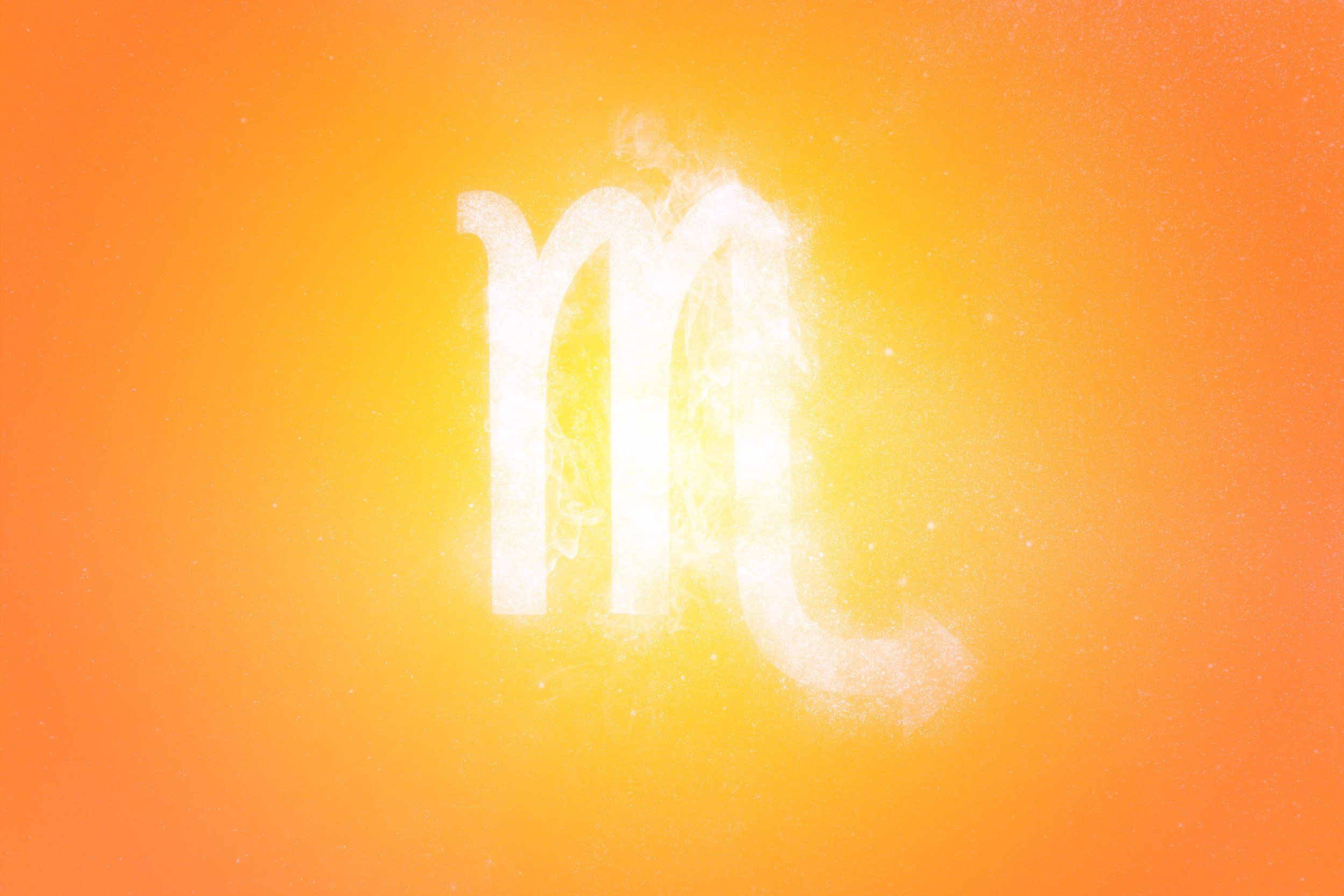 Scorpio Zodiac Sign. Abstract sky background