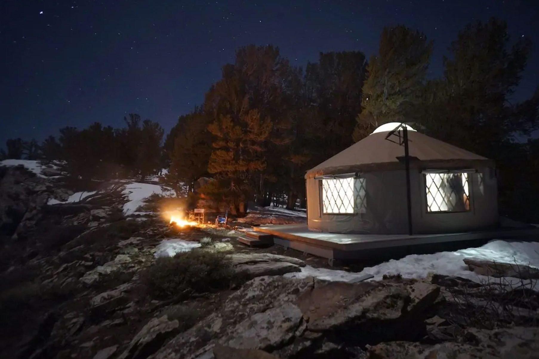 Ruby High Yurt, in Lamoille, Nevada