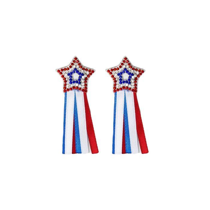 Star Ribbon Drop Earrings