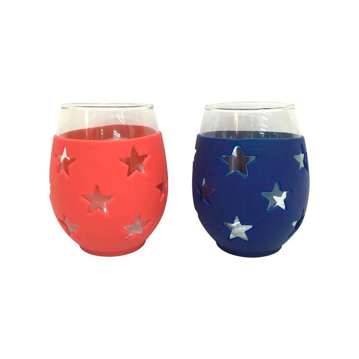 Stars Stemless Wine Glass Set
