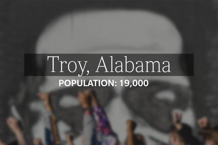 Troy, Alabama (Population: 19,000) (college-age)
