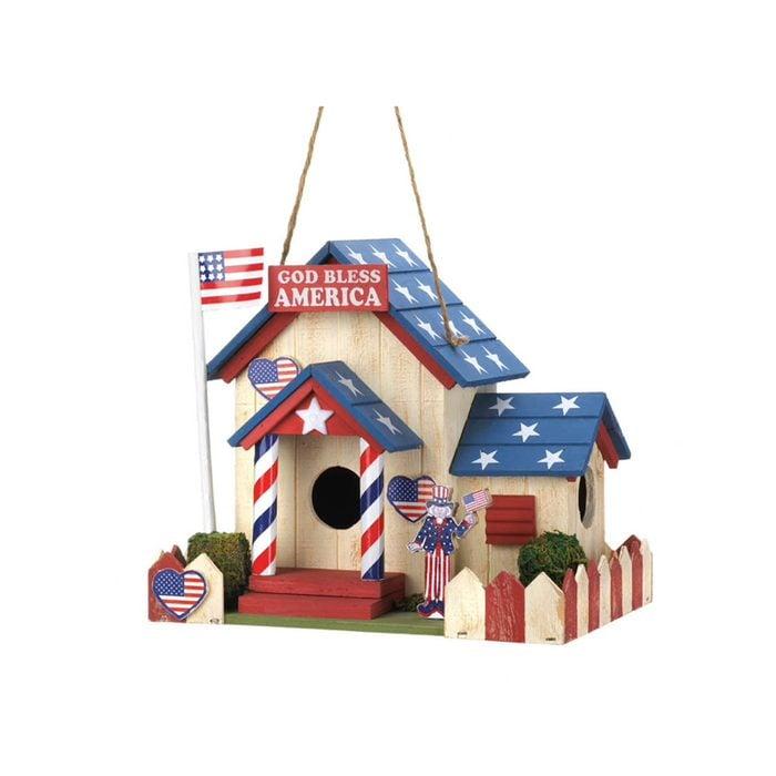 U.s.a. Patriotic Bird House