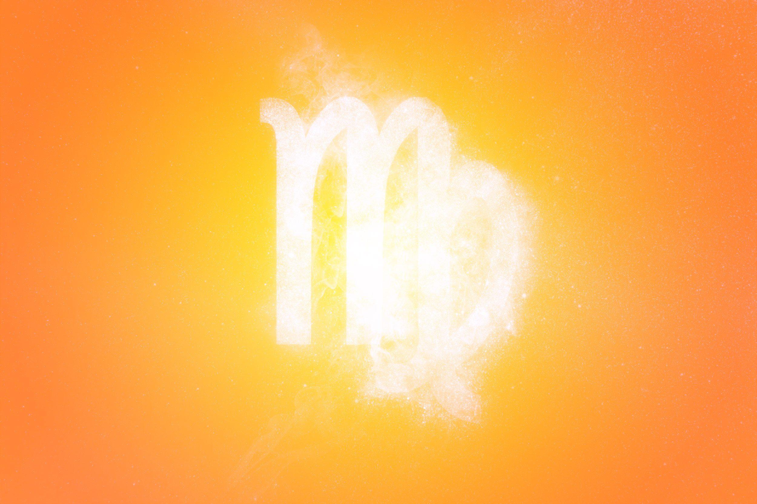 Virgo Zodiac Sign. Abstract sky background