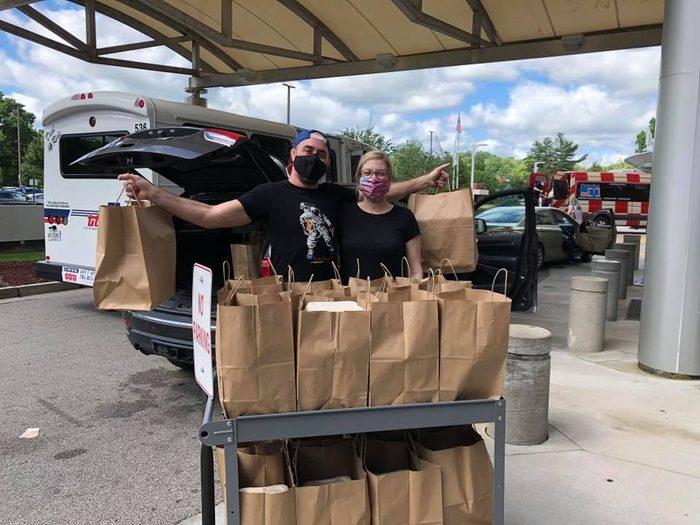 delivering meals