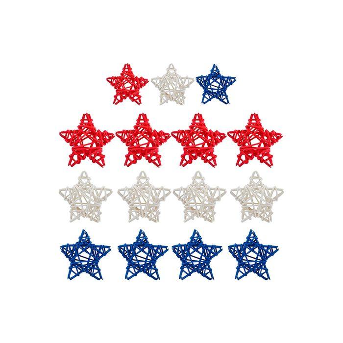 Wicker Rattan Stars
