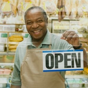 African butcher holding