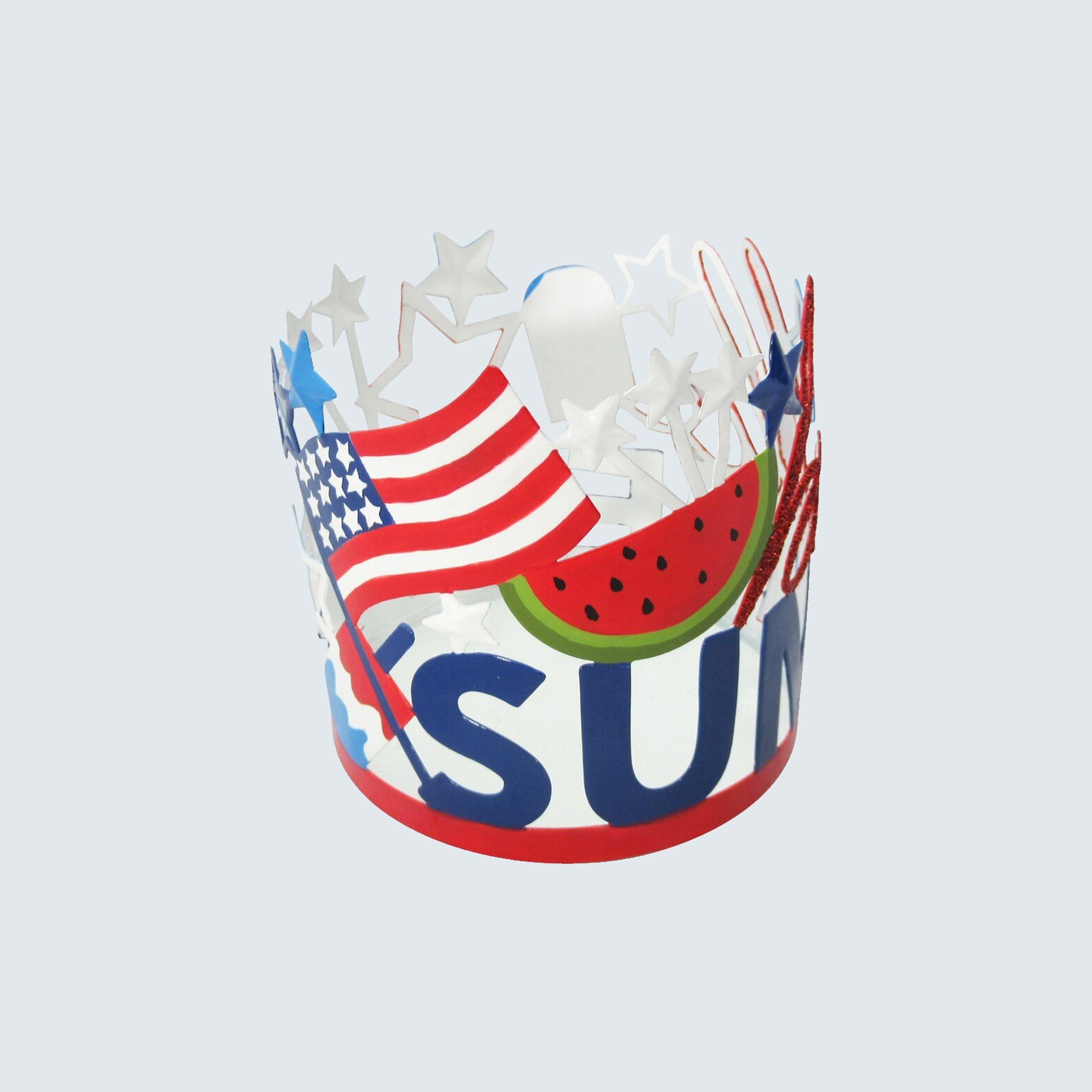 "Americana ""Hello Summer"" Candle Sleeve"
