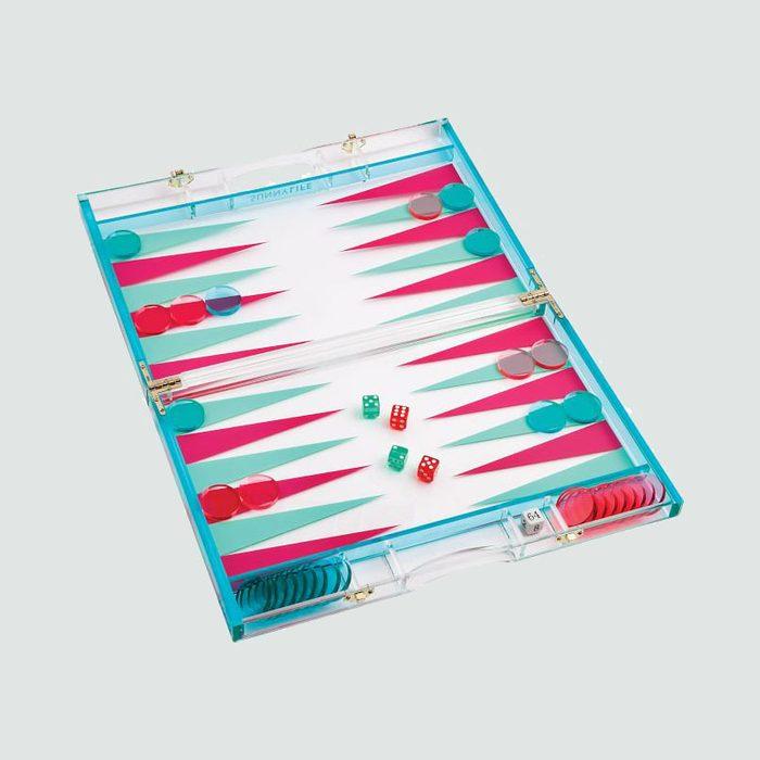 Mark & Graham Acrylic Neon Backgammon Set