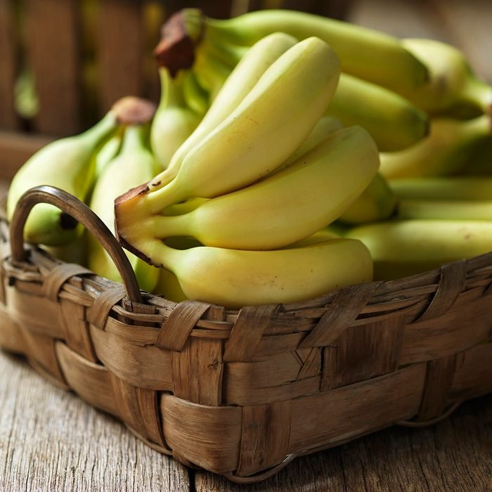 Bananas in basket