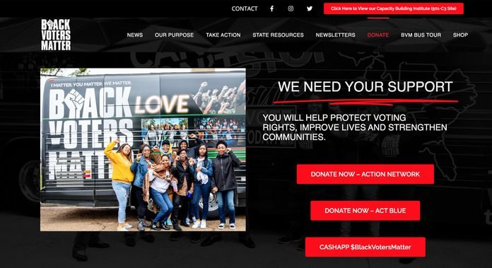 Black Voters Matter donation page