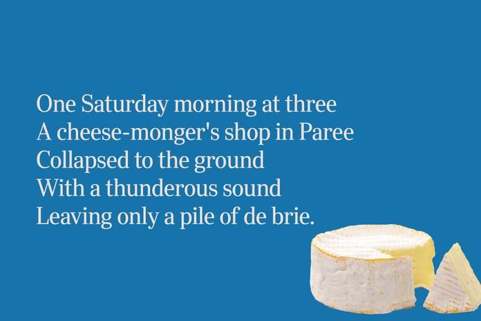 Brie cheese limerick for clever people