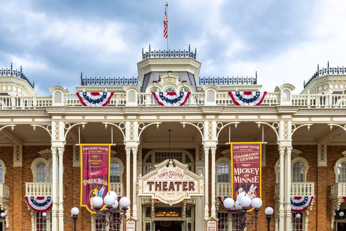 Facade of a beautiful theater inside of the Walt Disney's...