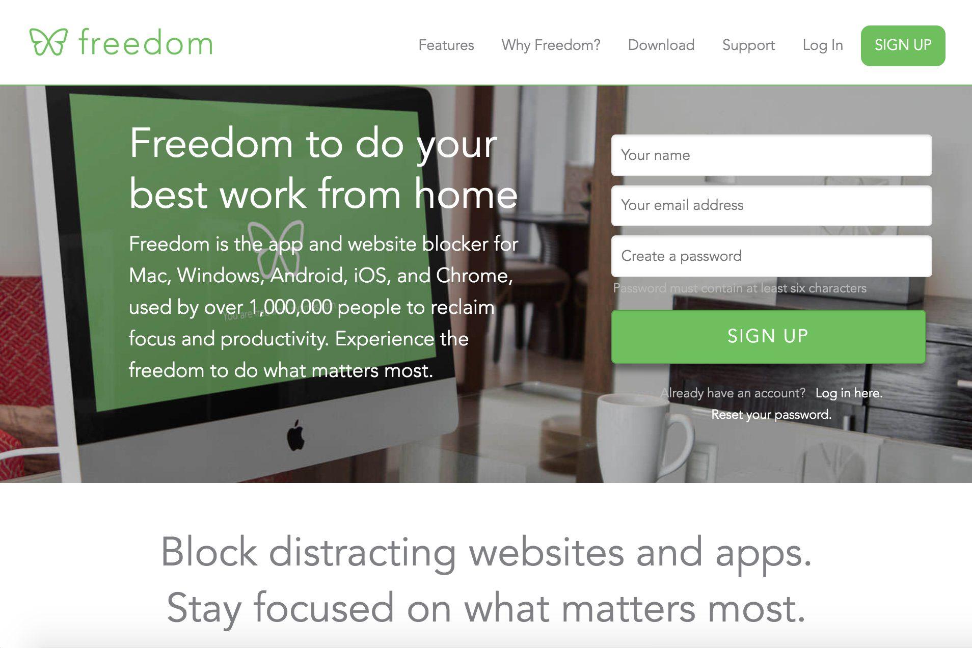 freedom website blocker