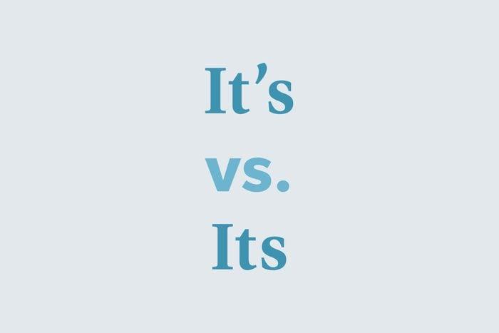 Its vs. it's