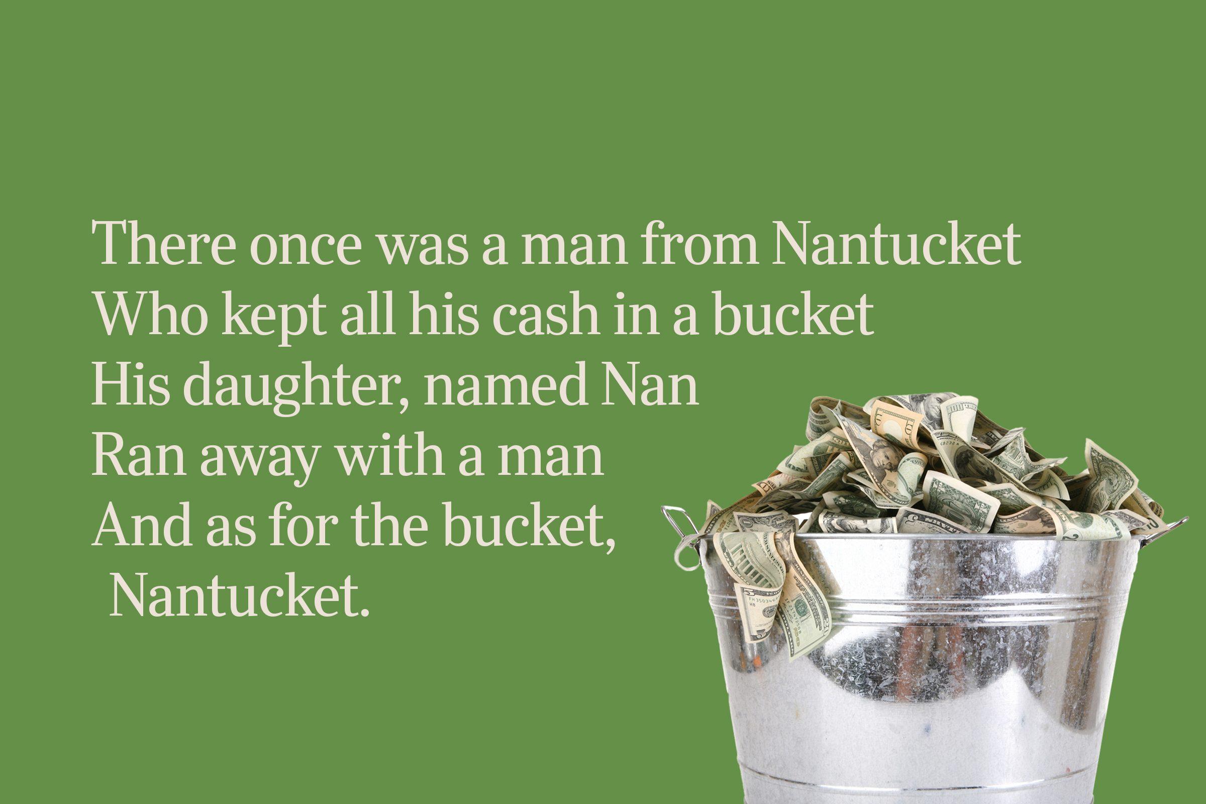 cash bucket limerick