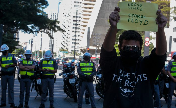 Organized Soccer Fans Protest Against President Bolsonaro and the Military Police Amidst the Coronavirus (COVID - 19) Pandemic