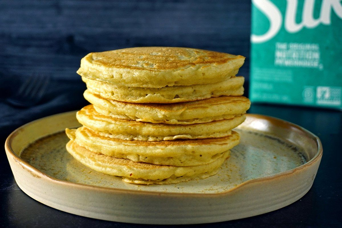 pancake-ingredient-substitutions-soy milk