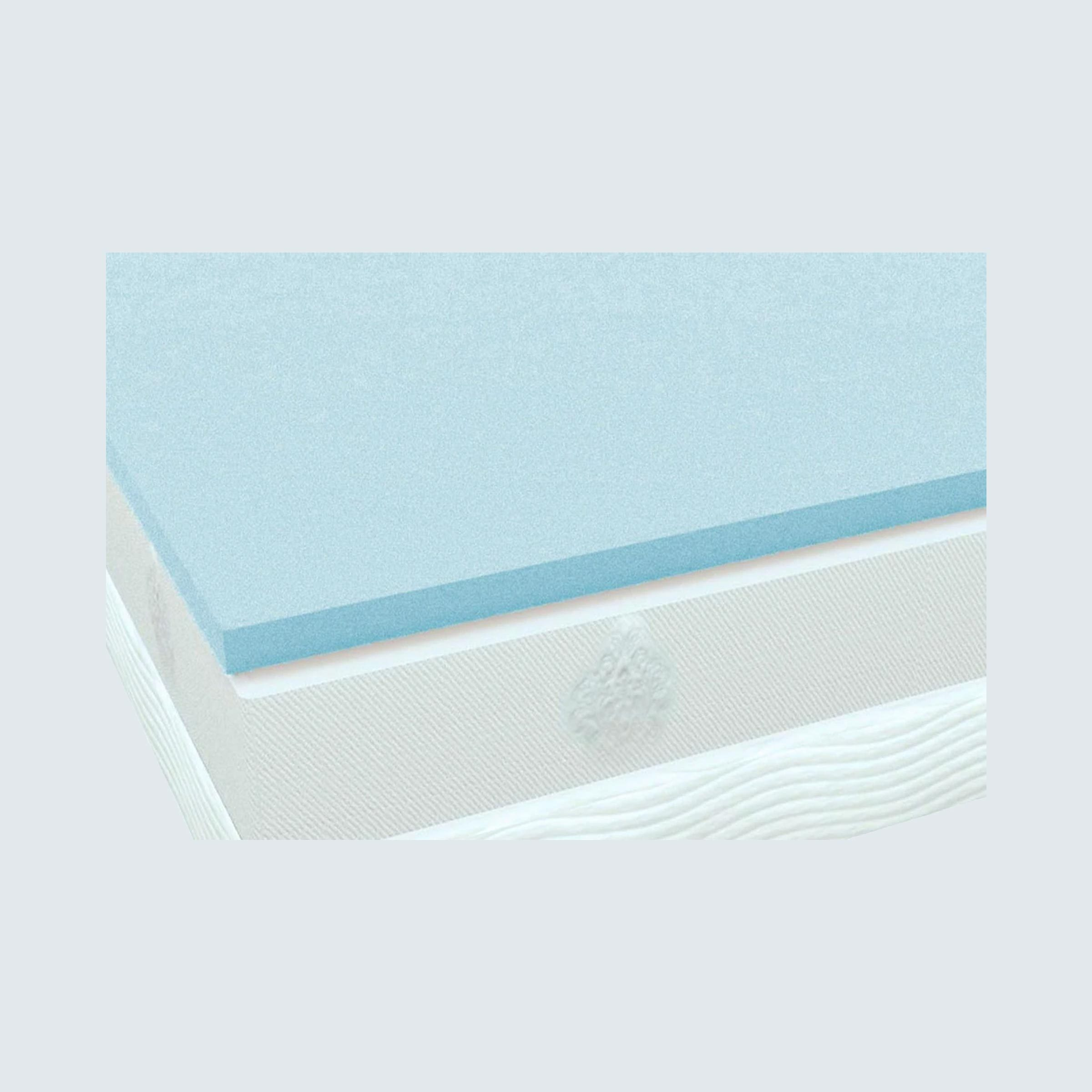 PlushBedsCool Bliss Gel Memory Foam Mattress Topper - Queen Size