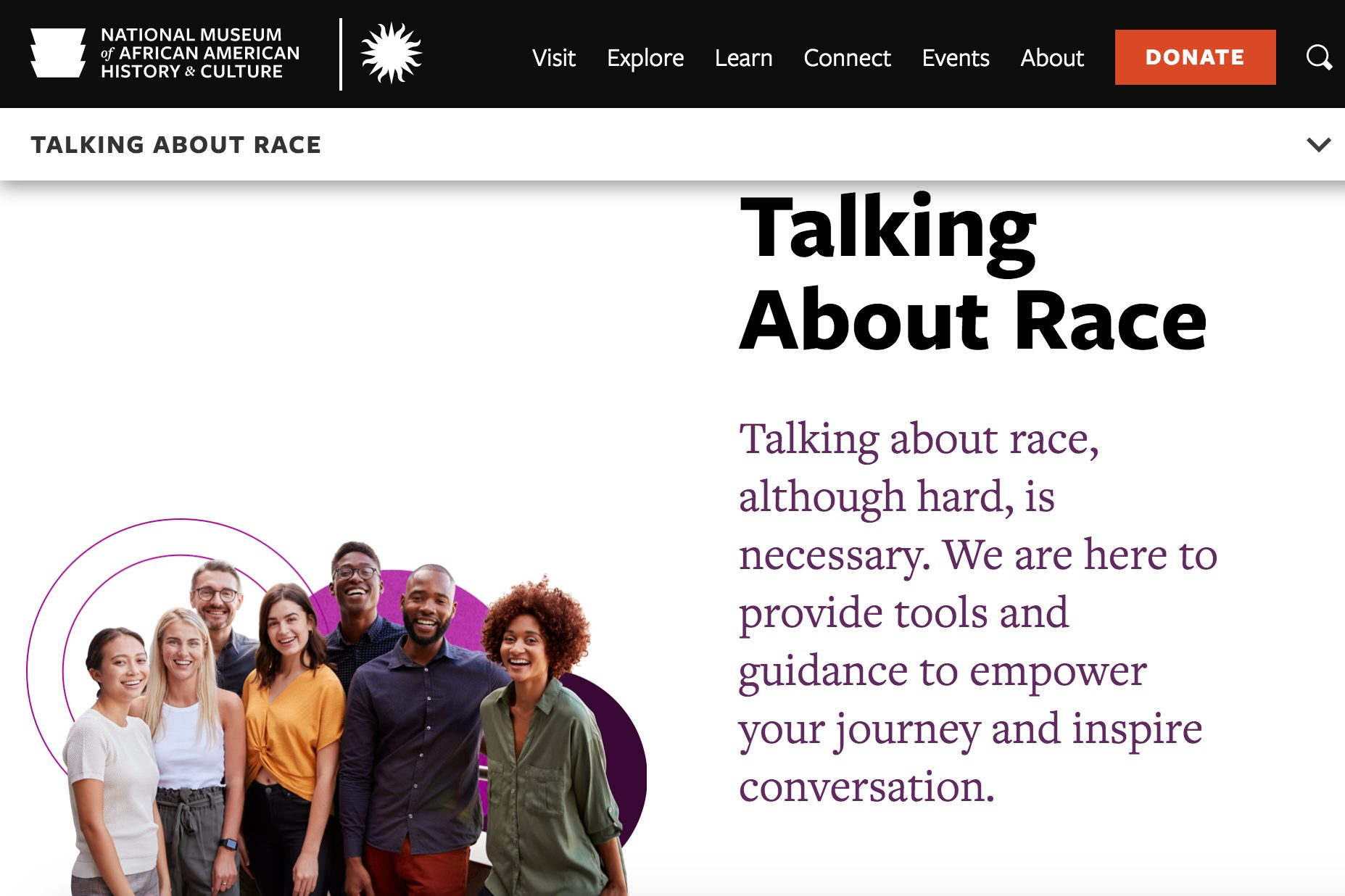 smithsonian talking about race