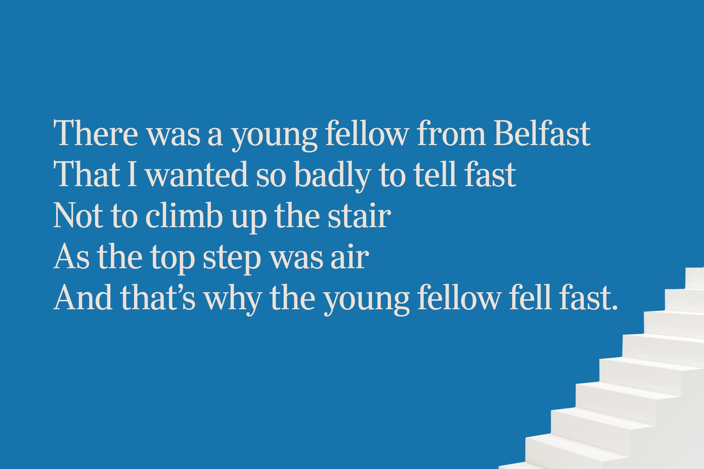 Stairs limerick for clever people