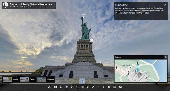 statue of liberty virtual tour