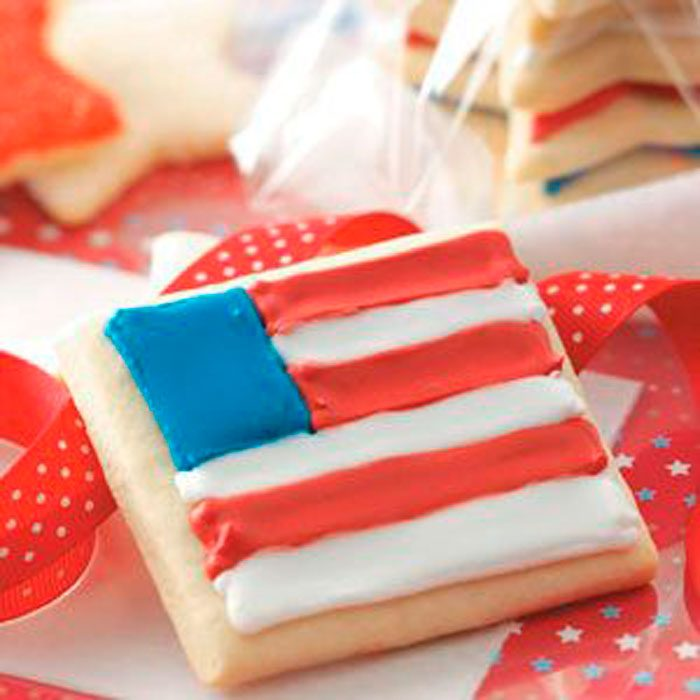 Sugar Cookie With Flag Icing