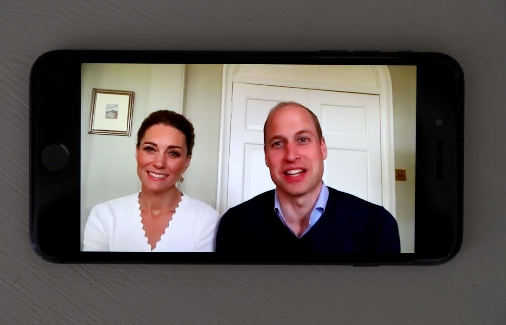 """The Duke And Duchess Of Cambridge Mark The First Anniversary Of Crisis Text Service """"Shout"""""""
