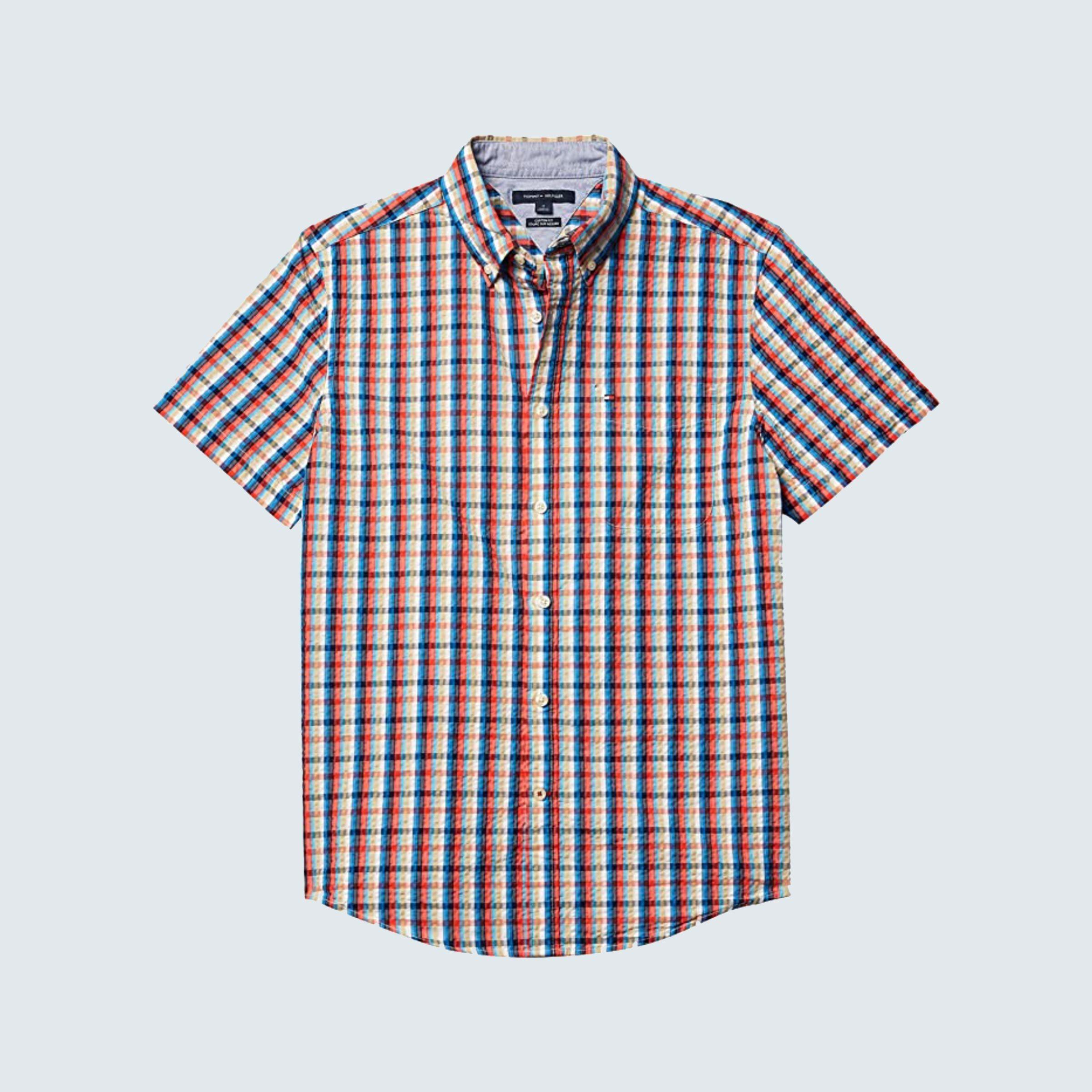 Tommy Hilfiger Men's Short Sleeve Button Down Shirt
