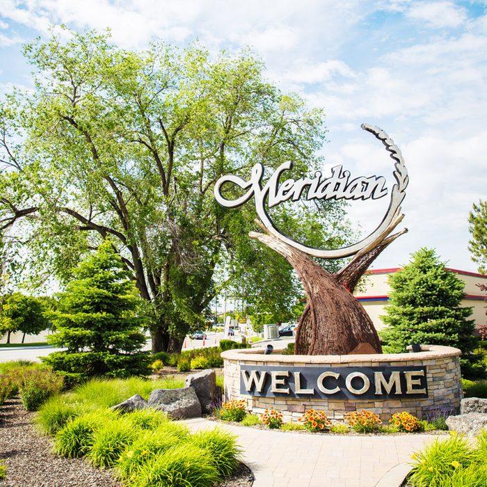 Meridian, Idaho welcome sign