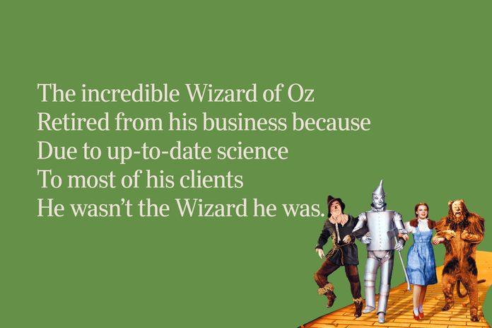 Wizard Of Oz Limerick