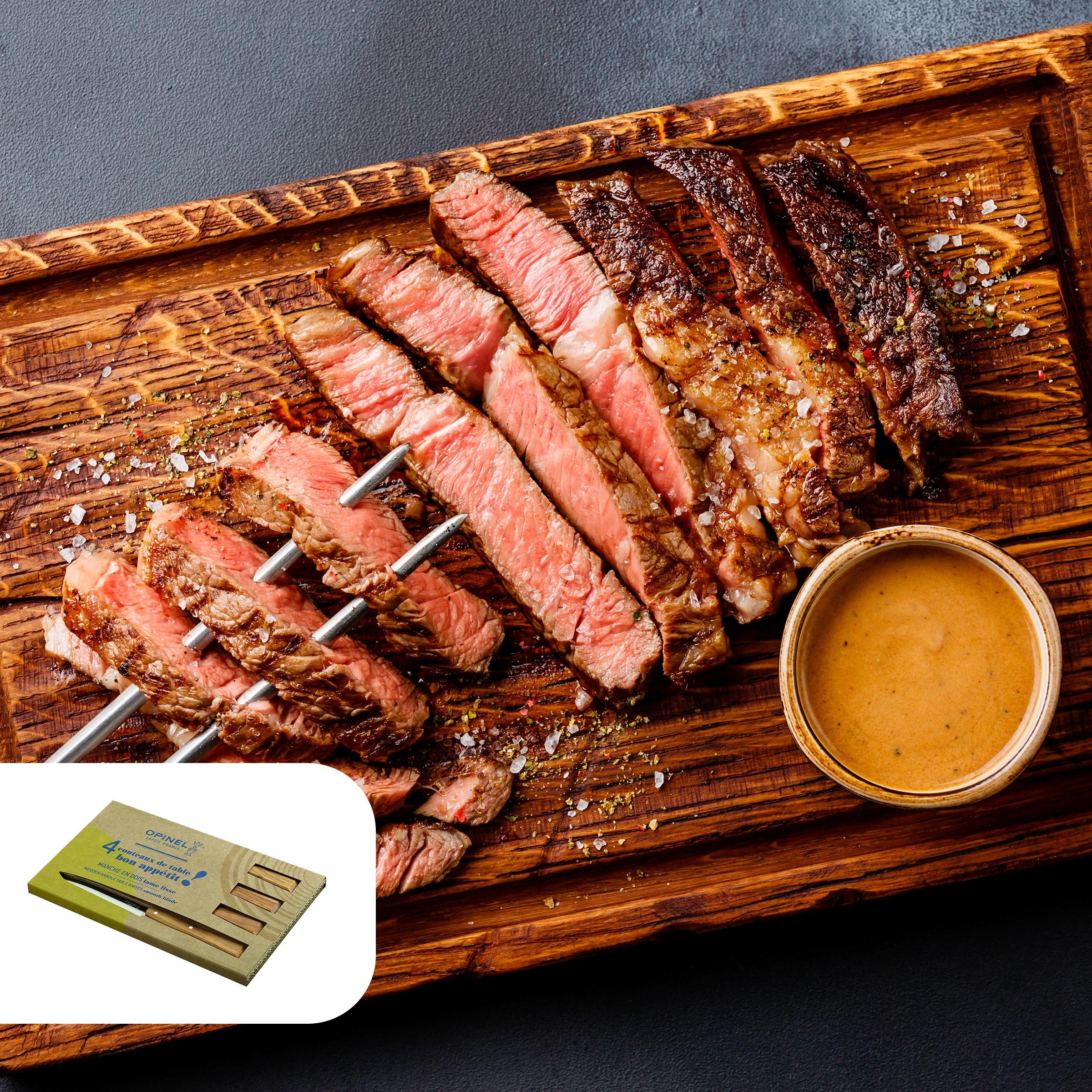 Cowboy steak with whiskey butter