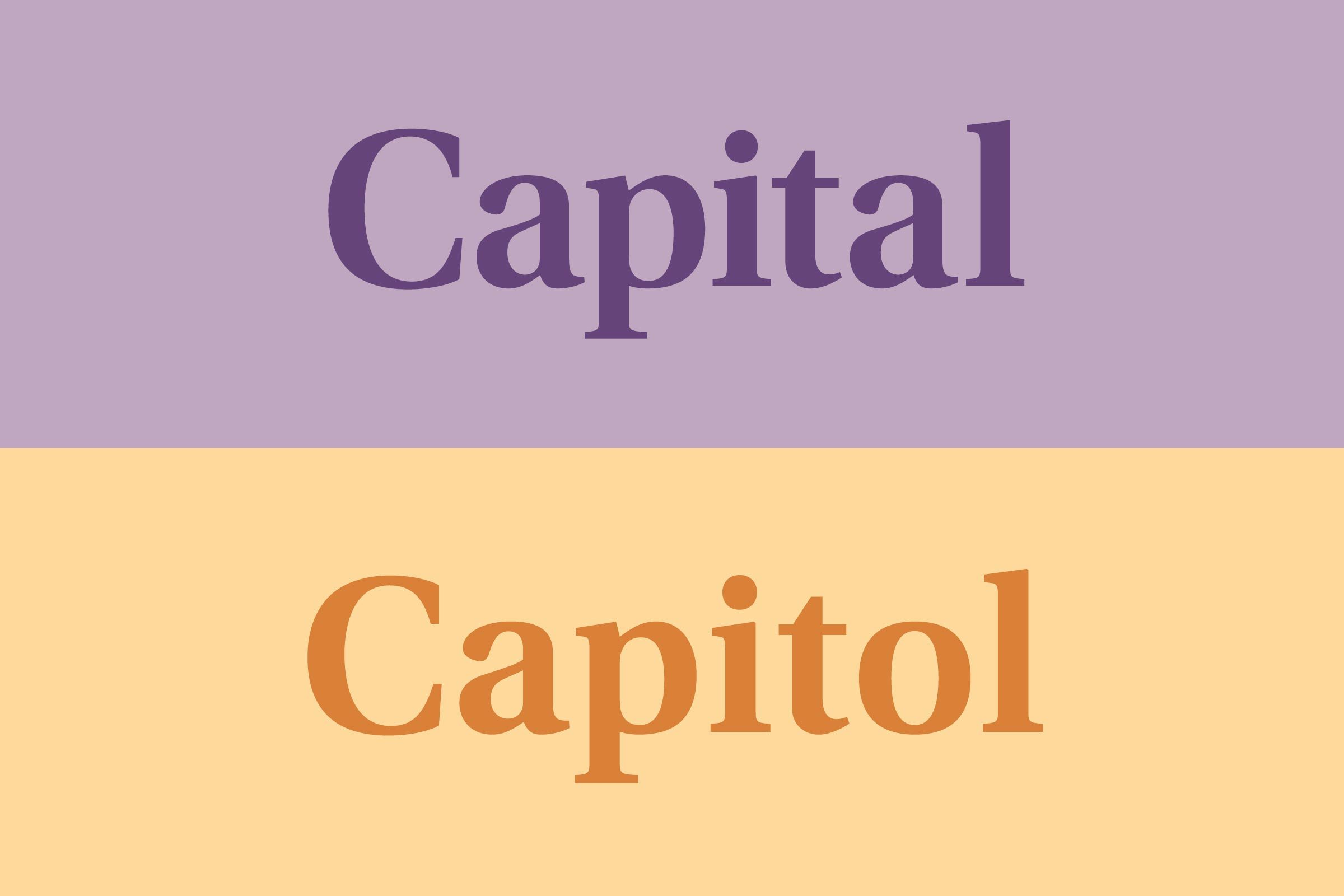 Capital vs. Capitol