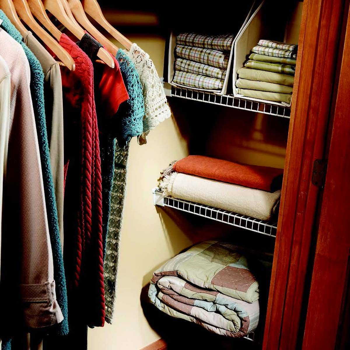 closet nook wire shelves