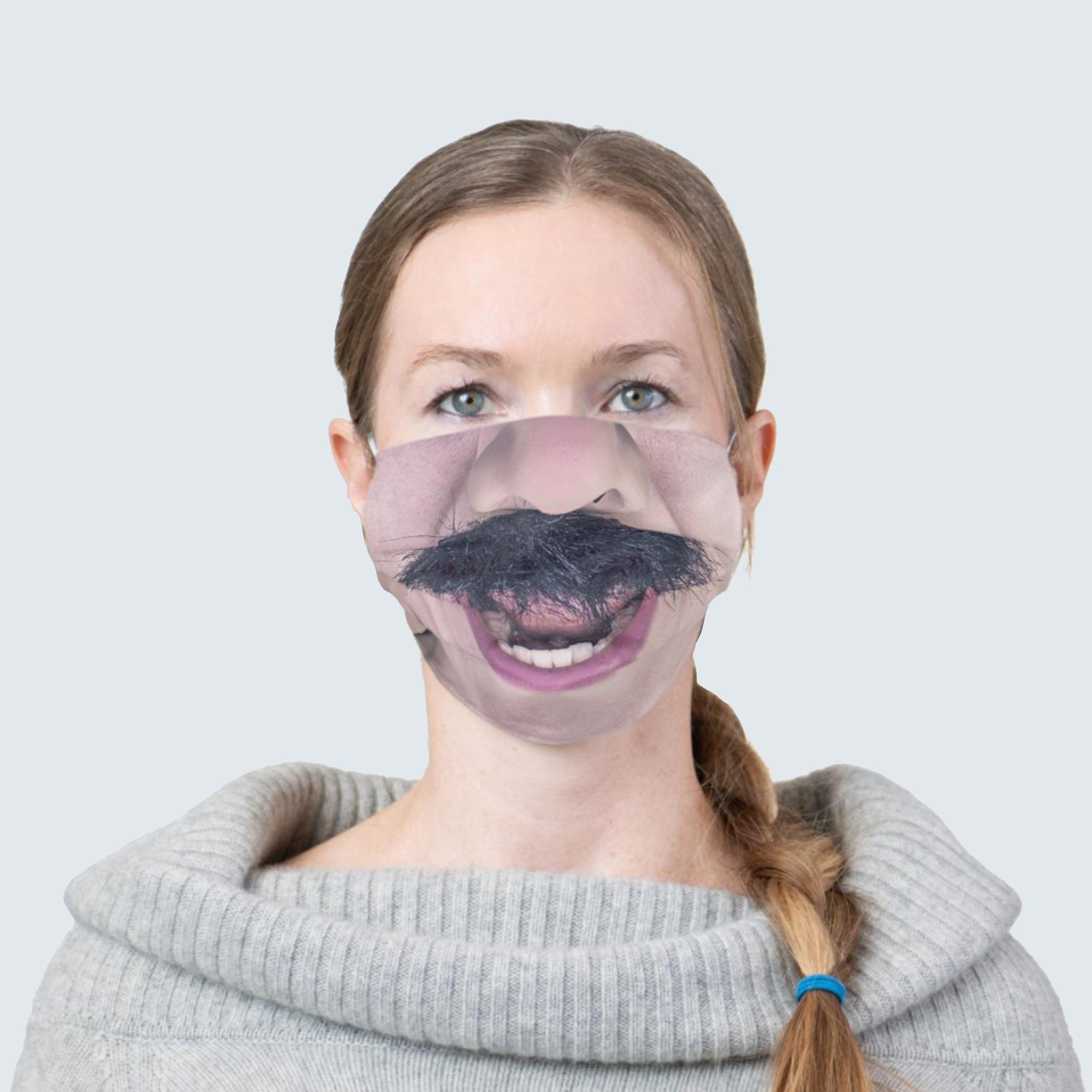 Mustache man face mask