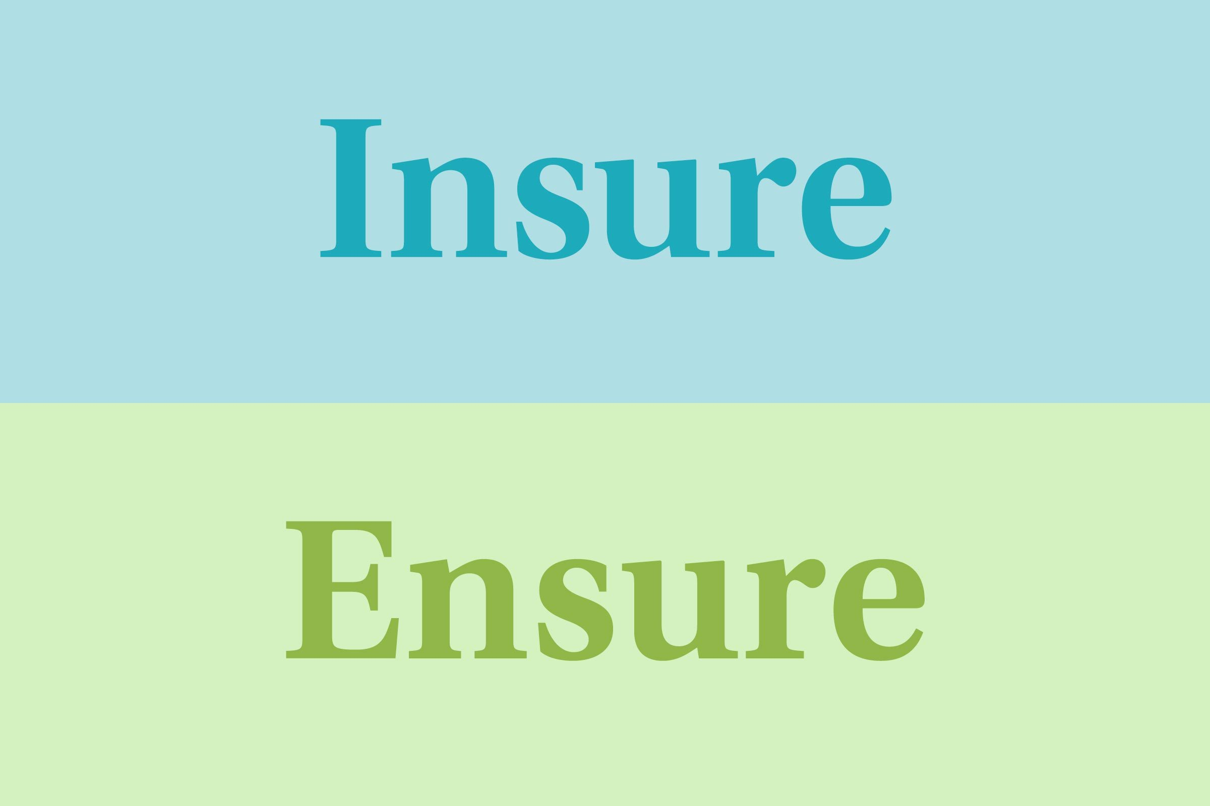 Insure vs. ensure