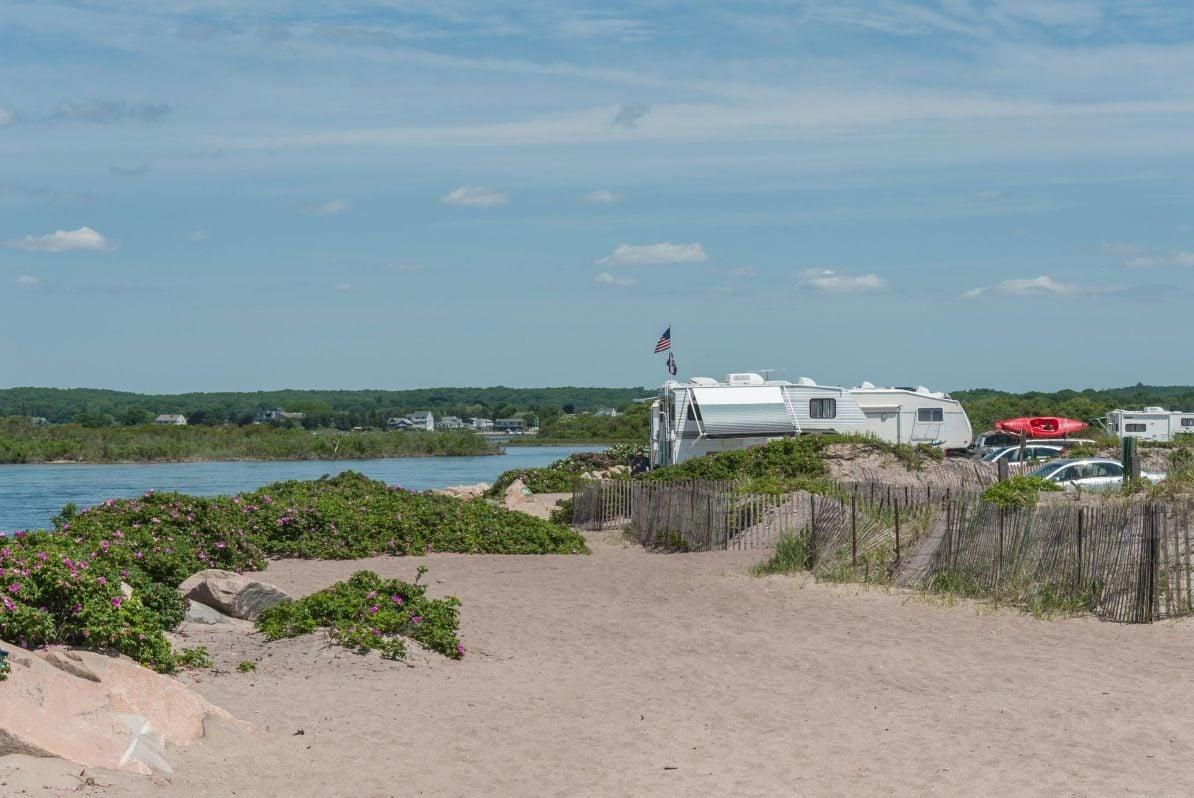 Charlestown Breachway Campground, Charlestown, Rhode Island