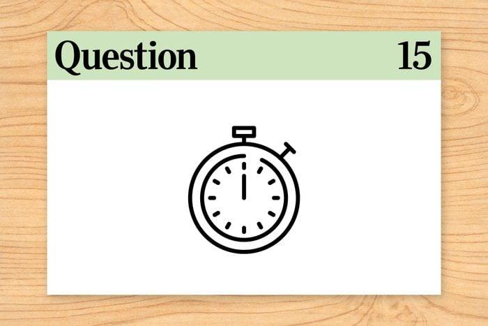 brain teaser question 15. stopwatch illustration
