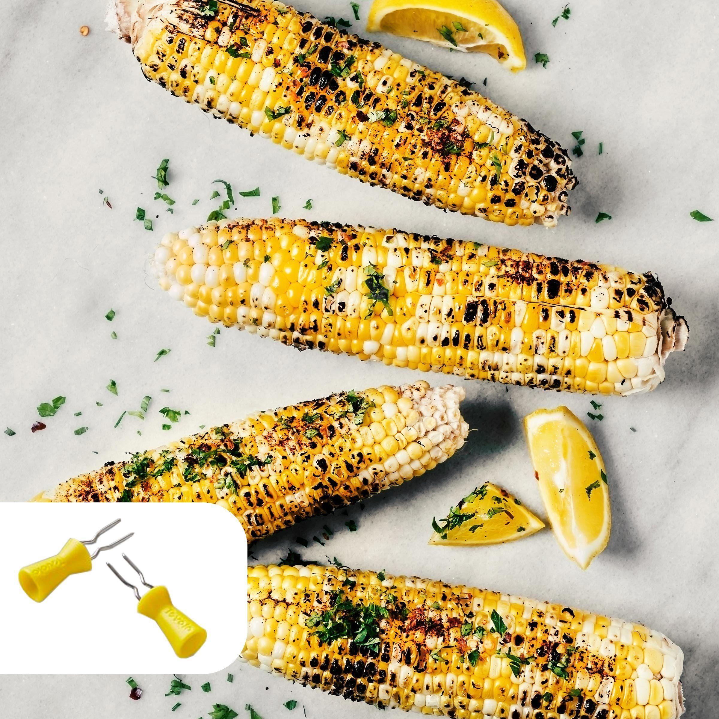 Coconut-grilled corn