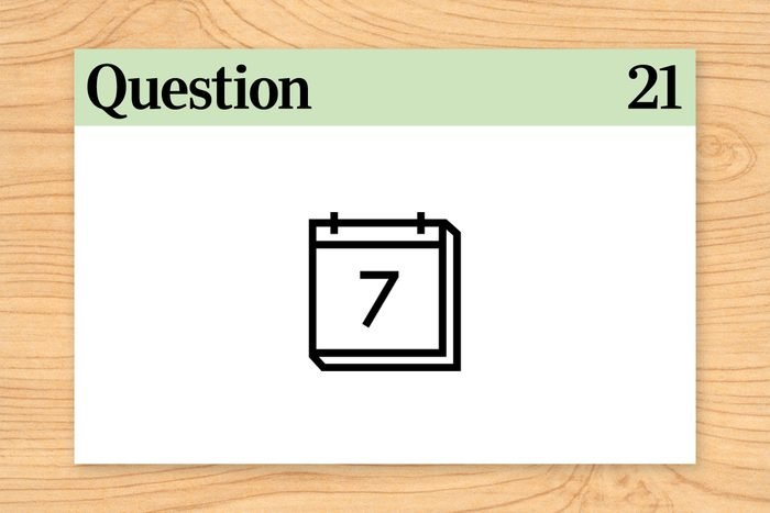question 21 brain teaser what day is it