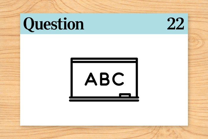 question 22 brain teasers alphabet