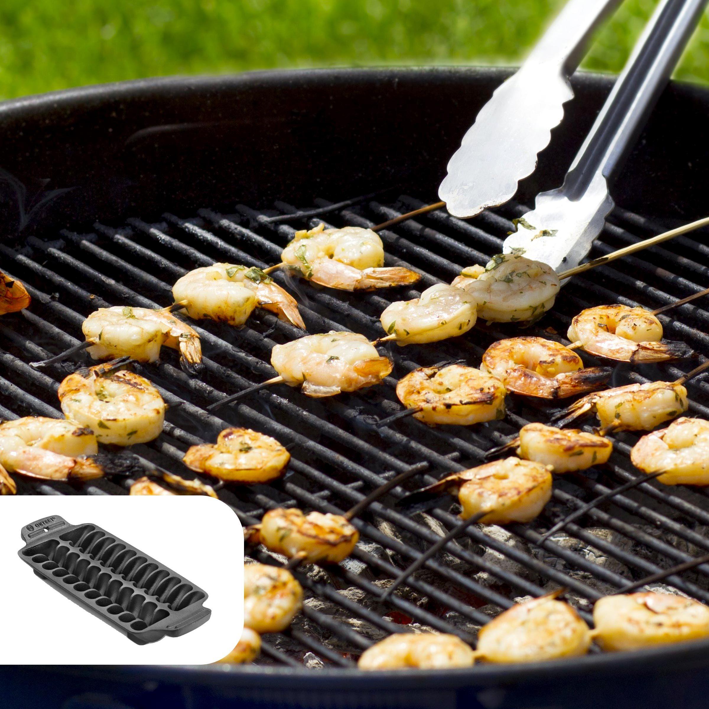 Salt and pepper grilled shrimp