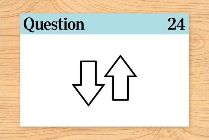 question 24 brain teaser up down arrows